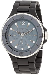 Armitron Men's 20/4763GYBK Black Ceramic Multi-function Bracelet Watch