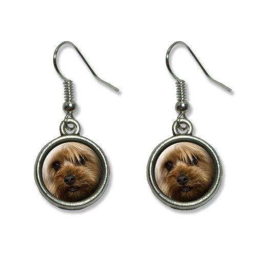 Yorkshire Terrier Yorkie Dog Novelty Dangling Dangle Drop Charm Earrings 3d Yorkie Dog Charm