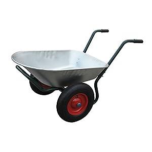 Brouette chariot de jardin 2 roues contenance 150kg for Chariot de jardin 2 roues