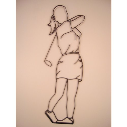 Golfer Female Iron Sports Shadow Decorative Wall Art