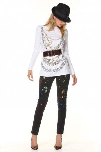 T-Shirt M/Lunga Denny Rose, ART 52DR61011, Taglia: XS, Colore: Nero