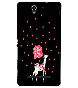 PrintDhaba Quote D-4257 Back Case Cover for SONY XPERIA C3 (Multi-Coloured)