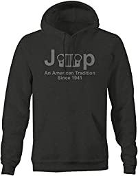 Stealth - Jeep Classic Grill Wrangler American Tradition Since 1941 Pullover Sweatshirt - 4XL