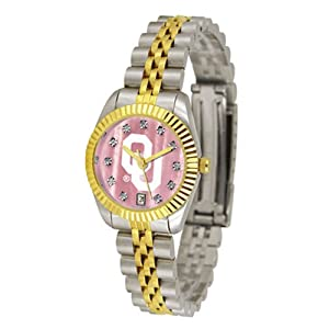 Oklahoma Sooners Executive Ladies Watch with Mother of Pearl Dial by SunTime