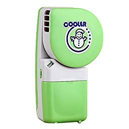 Creaker Electric Small Portable Fan & Mini-air Conditioner Water Cool Cooler, Runs On Batteries Or USB