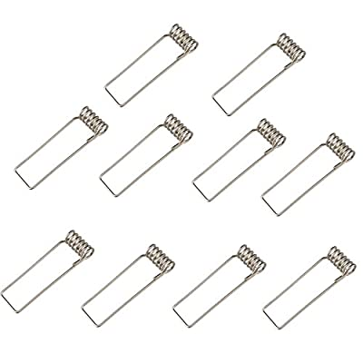 Senweit Pack of 10 Retaining Spring Clips Diameter 55mm for GU10 Fire Rated Downlight Recessed Ceiling Lighting