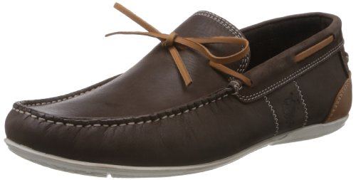 Buckaroo Men Katya B Brown Leather Boat Shoes  6.5 UK