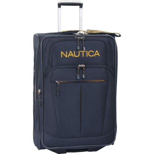 Nautica Luggage Helmsman 25 Inch Expandable Classic Upright Bag, Navy/Yellow, One Size best price