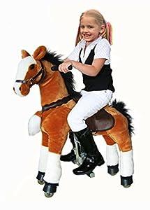 UFREE Ponycycle, montar a caballo de juguete, altura 36'', caballo móvil y oscilante, Giddyup,vaya, vaya, Pony para años de 3-10