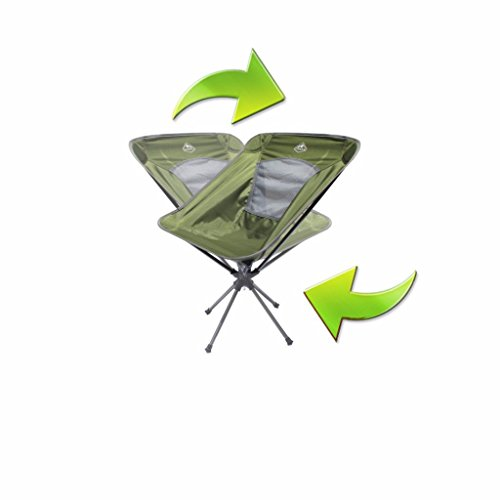 Trekk Ultralight Compact Swivel Camping Chair (Moss Green) (Small Portable Kerosene Heater compare prices)