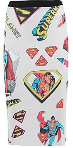 TrendyFashion -  Gonna  - Donna SUPERMAN WHITE 40