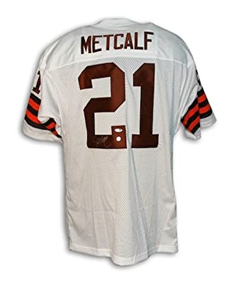 Autographed Eric Metcalf Cleveland Browns Throwback Jersey