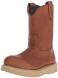 Georgia Boot Men\'s Wedge Wellington Work Shoe, Barracuda Gold, 11 M US