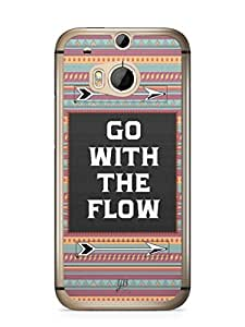 YuBingo Go with the Flow Mobile Case Back Cover for HTC One M8