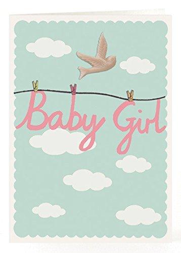Petra Boase Resin Bird Card - Baby Girl front-741540