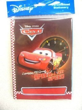 "Disney Cars 5""x7"" Hard Cover Personalized Stationery Book - 1"