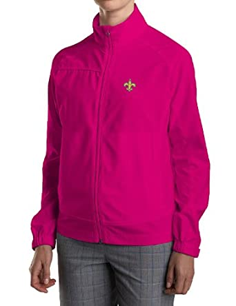 NFL New Orleans Saints Ladies CB WeatherTec Camano Full Zip Jacket, Ribbon Pink,... by Cutter & Buck