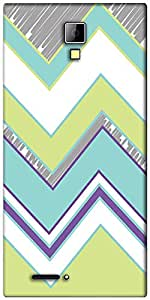 Snoogg Zig Zag design 2368 Designer Protective Back Case Cover For Micromax Canvas Express A99