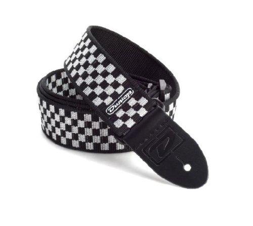 Dunlop D38-31BK Black & White Checkered Electric Guitar Strap