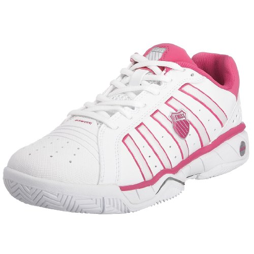 Kswiss Women's Speedster Tennis white/pink Tennis Shoe 92432-197-M 4.5 UK