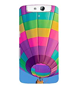 printtech Hot Air Balloon Colored Back Case Cover for Oppo N1
