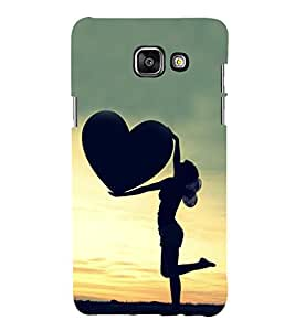 Girl with a Heart 3D Hard Polycarbonate Designer Back Case Cover for Samsung Galaxy A5 (2016) :: Samsung Galaxy A5 2016 Duos :: Samsung Galaxy A5 2016 A510F A510M A510FD A5100 A510Y :: Samsung Galaxy A5 A510 2016 Edition