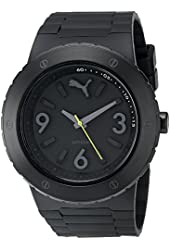 PUMA Unisex Blast L Silver Black Watch
