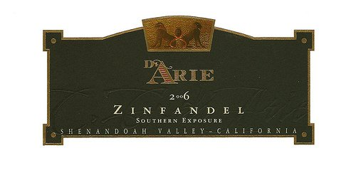 C.G. Di Arie 2006  Cellar Select Wines Zinfandel, Southern Exposure 750mL