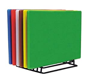 (Set of 6) Colorful Cutting Boards Non-Skid Surface Small 18 x 12 *NSF Listed* by YB Chef's