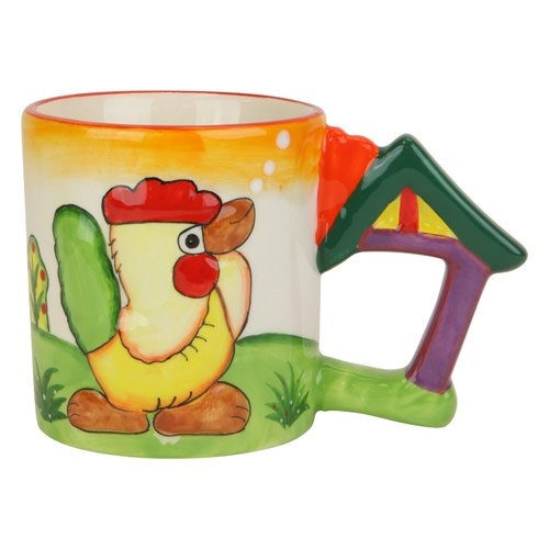 Chicken Mug With Clucking Sound, Cup Clucks When Lifted, Ceramic, 3.75-Inch