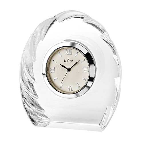 Corinth Crystal Sculpted Table Clock
