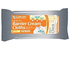 Comfort® Shield Incontinence Barrier Cream Cloths - Case (48 Packages, 384 Cloths)