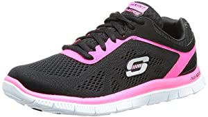 Skechers Flex AppealLove Your Style - Zapatillas de material sintético mujer, color negro, talla 37