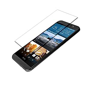 SNOOGG Pack 6 HTC One M9Full Body Tempered Glass Screen Protector [ Full Body Edge to Edge ] [ Anti Scratch ] [ 2.5D Round Edge] [HD View] – White