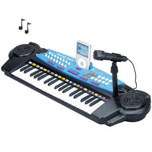 37 Keys Standard Keyboard With Microphone - With Ipod Compartment And Microphone , Color Vary