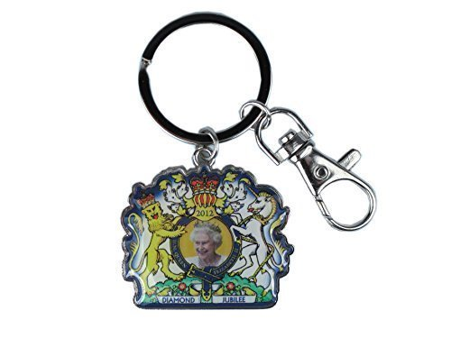 Diamond Jubilee Metal Cutout Keyring, H M Queen Elizabeth II [Toy]