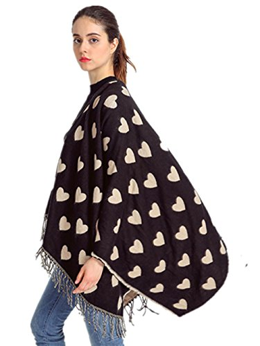 ZZHH Fringed Cashmere Fashion Love Thick Oversized Shawl Dual-use warm Scarf , beige (Silk Elements Mixed Silk compare prices)