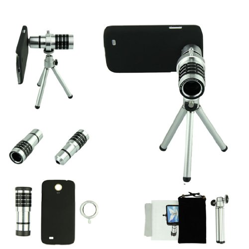 Voberry 12X Telephoto Manual Focus Telescope Phone Camera Lens For Apple Iphone 4 4S With Telescopic Tripod