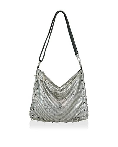 Whiting & Davis Women's Rings Large Shoulder and Crossbody, Pewter
