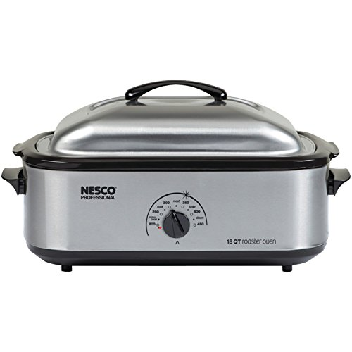 Nesco 4818-25PR 18-Quart Professional Roaster Oven, Stainless Steel Base and Lid.