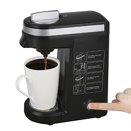 K-cup Coffee Maker, Single K Cups Coffeemaker Machine, Black (Kureg Coffee Machines compare prices)