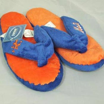 Image of New York Mets Womens Flip Flop Thong Slippers (B006KYQZ7W)