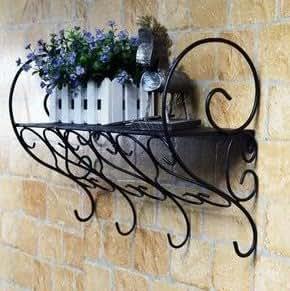 glamorous wrought iron kitchen wall shelves | Amazon.com: Wrought Iron Stands Bathroom Shelf Wall Mount ...