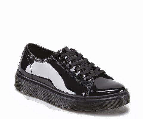 Ladies Dr Martens - Spin; Classic Patent Leather, Casual Fashion Lace Up Shoes