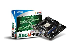MSI A55M-P33 FM1 AMD A55 Micro ATX AMD Motherboard