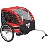 Comfortable, Extra-Wide Cabin with Storage Space Huffy Disney Cars Boys' Bike Trailer, Red/Black - Outdoor, Hike, Ride, Trip, Travel, Sports, Road, Summer, Race, Speed