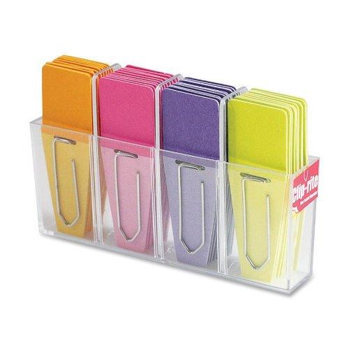 Clip-rite Clip-Flags Solid O/P/P/L 9 Clip-Tabs per color Dispenser included 36 pieces (CRT-028 )