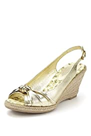 Peep Toe Knot Espadrille Wedge Shoes