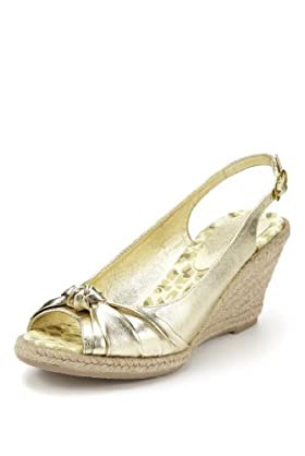 Peep Toe Knot Espadrille Wedge Shoes [T02-2912-S]