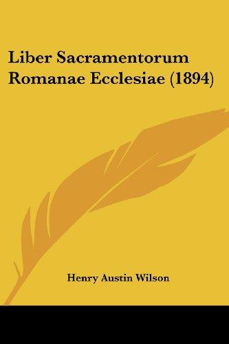 Liber Sacramentorum Romanae Ecclesiae (1894)
